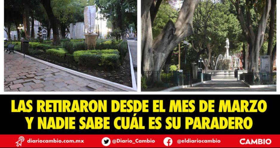 Increíble: saquean todo el enrejado del Zócalo de Puebla con el aval de Claudia (FOTOS Y VIDEOS)