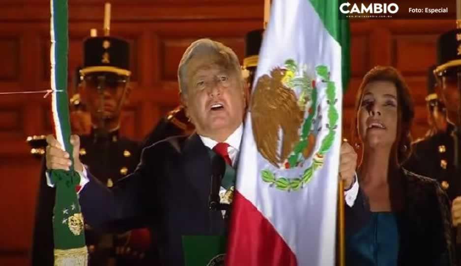 ¡Viva la libertad!, ¡Viva México!: AMLO da su tercer Grito frente a un Zócalo vacío (VIDEO)