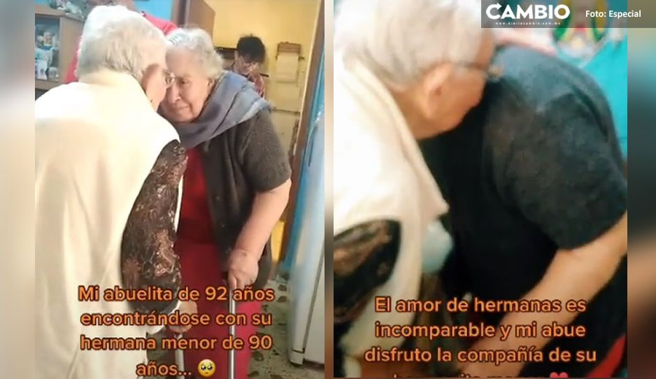 Conmovedor reencuentro: abuelitas se vuelven a ver después de un año distanciadas por la pandemia