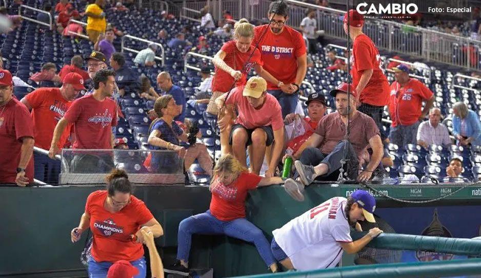 Suspenden juego de béisbol en Washington; balacera afuera del estadio deja al menos 4 heridos (VIDEO)
