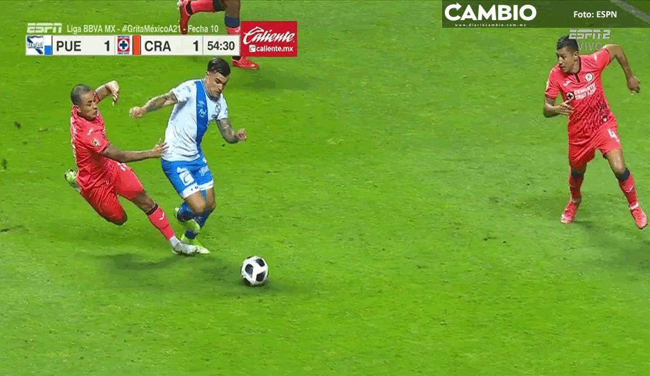 Puebla y Cruz Azul empatan 1-1 al medio tiempo en el Cuauhtémoc