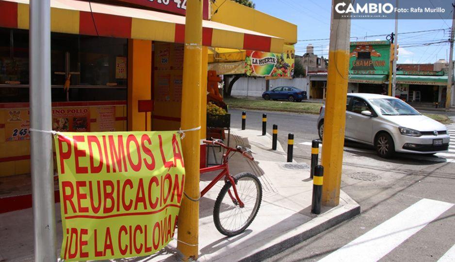 Vecinos de San Manuel revientan vs Claudia; exigen reubicar ciclovía en Circunvalación (FOTOS y VIDEOS)