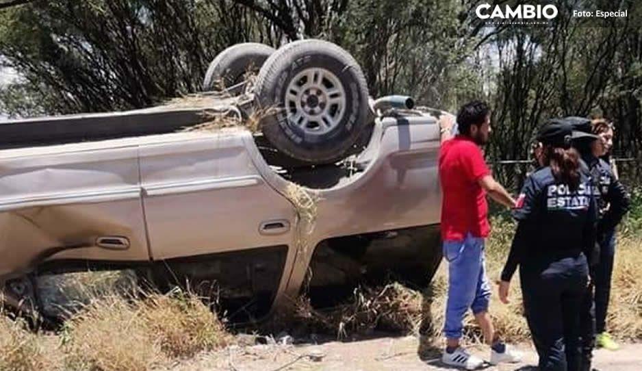 ¡Fatal Conductor termina volcado por evitar ser asalto en Tehuacán