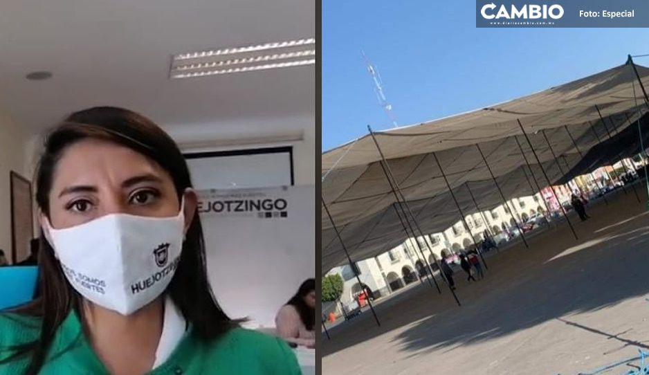 Angélica Alvarado desconoce cuántas dosis y cuándo se aplicará la vacuna AntiCovid en Huejotzingo