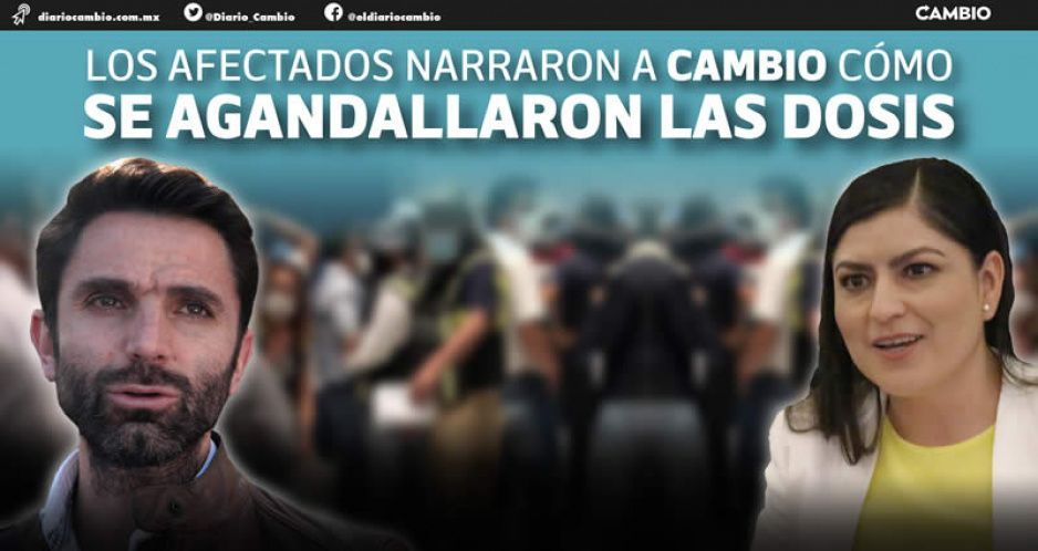 Rodrigo Abdala vacuna a casi 400 funcionarios y compinches de Claudia en CU y desplazó a brigadistas BUAP (FOTOS Y VIDEO)
