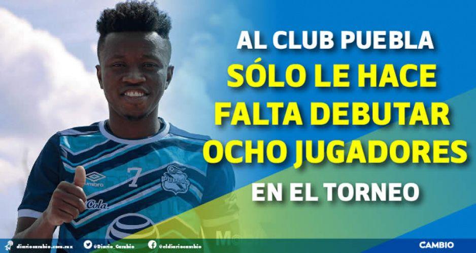 El jugador más caro del Club Puebla suma 15 minutos en el presente torneo
