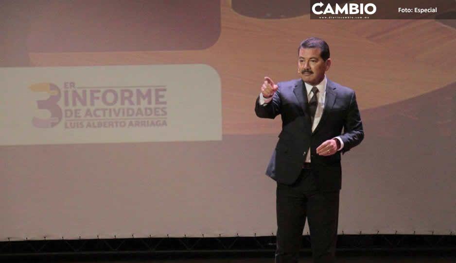Luis Alberto Arriaga rinde su último informe en San Pedro Cholula con promesas incumplidas