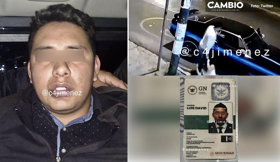 Identifican al golpeador de mujeres del Mustang; se llama Luis, es elemento de la GN ¡ya fue detenido!