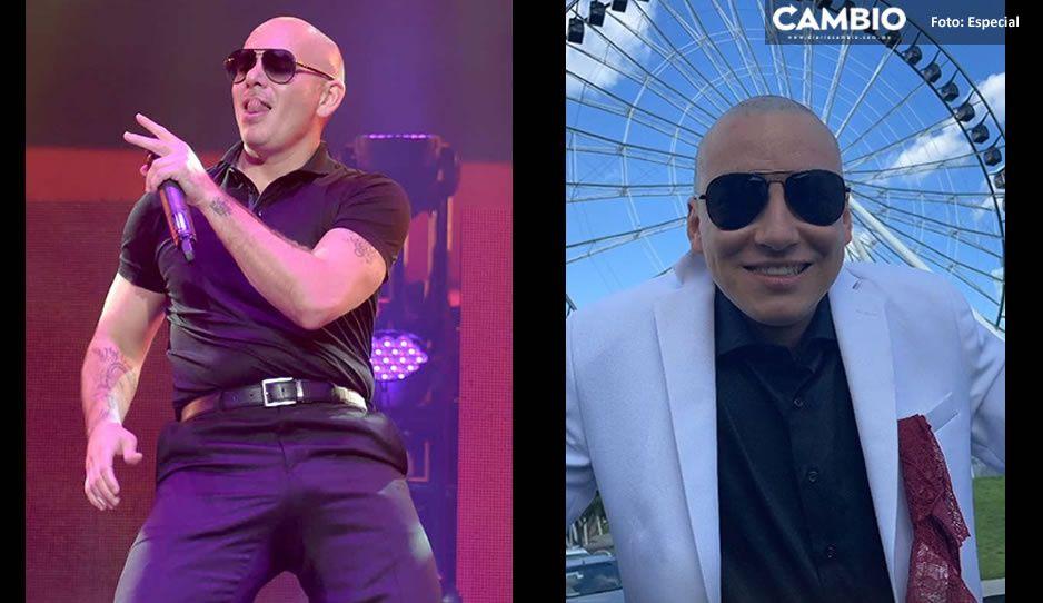 ¿Pitbull visitó Puebla y se tomó una foto en la Estrella? Aquí te contamos la historia