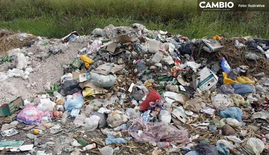 Denuncian tiradero clandestino en Chietla; piden su limpieza inmediata