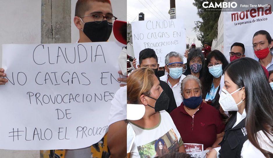 ¡Guerra sucia de Claudia! reparte pancartas contra Lalo en la México 83 y colonia del Valle  (FOTOS)