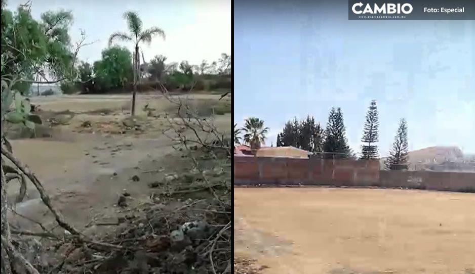 Colonos de Totimehuacán denuncian a constructora que destruye la zona arqueológica Tepalcayotl (VIDEO)