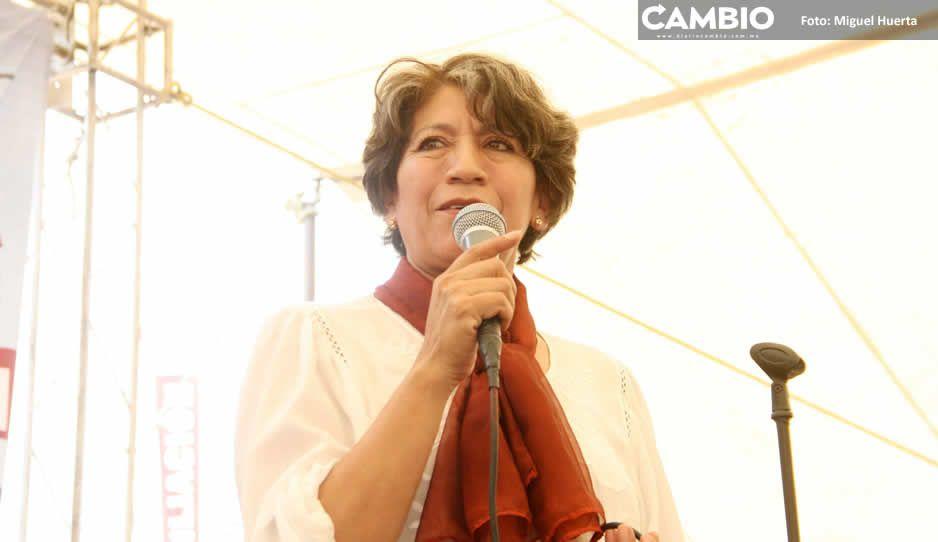 Para noviembre ya despachará Delfina Gómez en oficinas de la SEP en Puebla