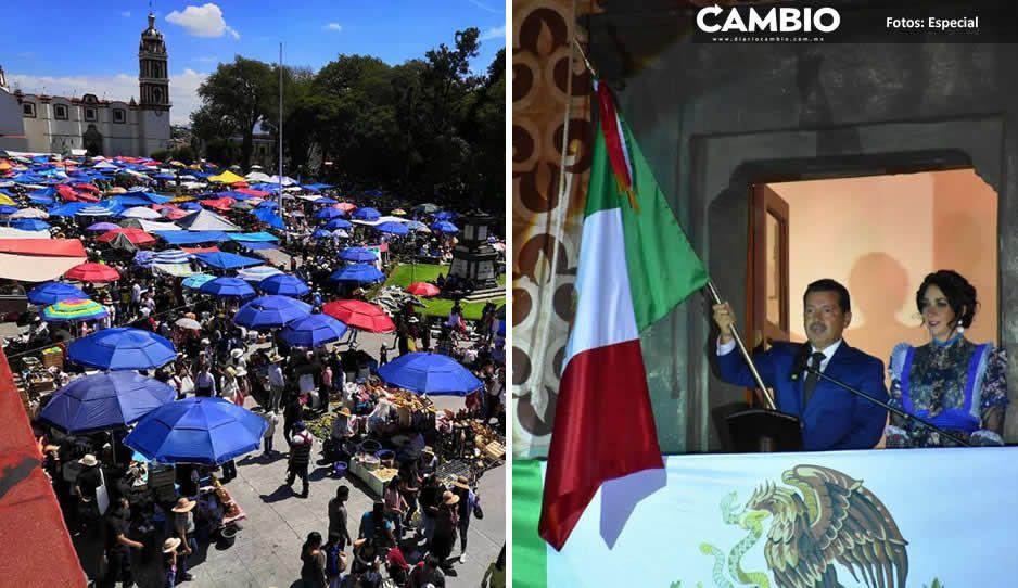 En vilo trueque milenario y grito de independencia en San Pedro Cholula, ante tercera ola de contagios