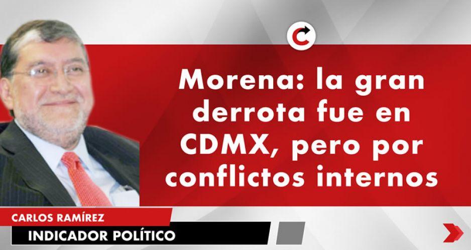 Morena: la gran derrota fue en CDMX, pero por conflictos internos