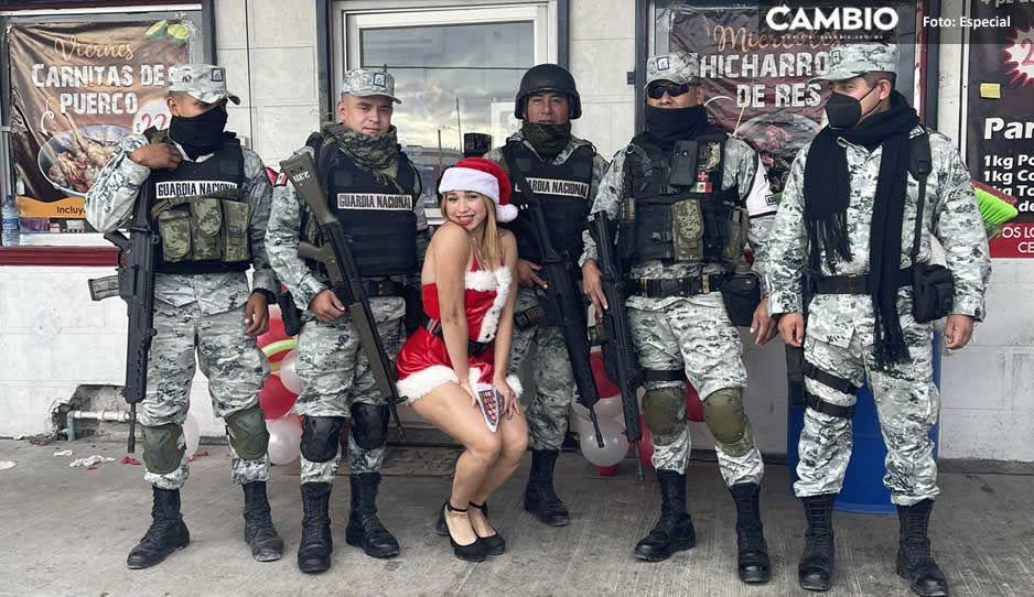 Diana Ferretiz: la guapa Santa que se fotografió junto a elementos de la Guardia Nacional (FOTOS)