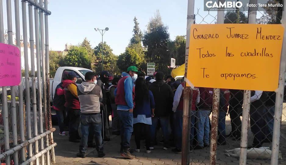 Sindicalizados continúan el show de Gonzalo Juárez y se van a paro de labores (VIDEO y FOTOS)