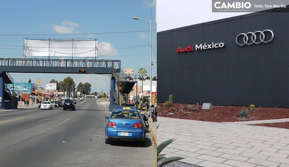 Audi miserable: ahora lleva a los obreros por carretera federal por ahorrarse el peaje