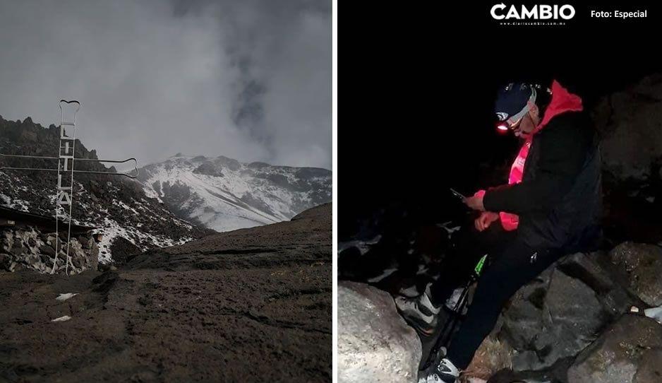 Rescatan a montañista estadounidense perdida en el Pico de Orizaba