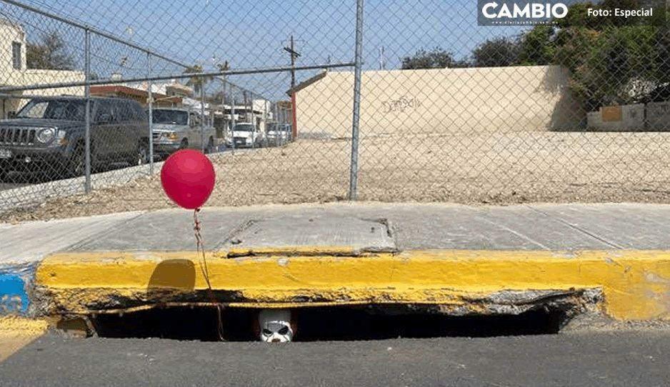 FOTO: ¡Terror! 'Eso' aparece en alcantarilla de Nuevo León