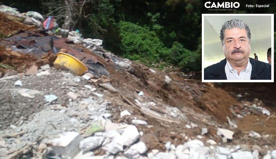 ¡Asqueroso! Así luce manantial contaminado de Huauchinango bajo complacencia de Ecoloco Vargas