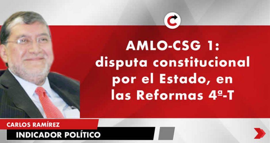 AMLO-CSG 1: disputa constitucional por el Estado, en las Reformas 4ª-T