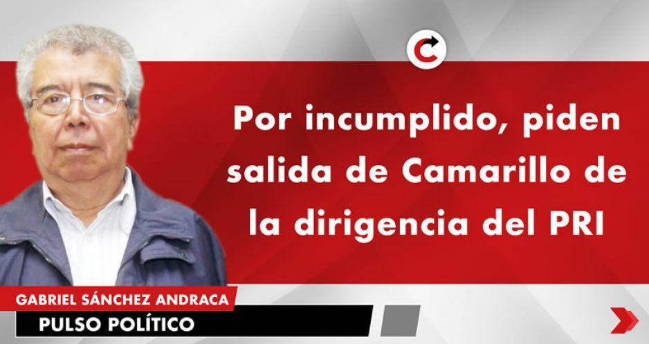 Por incumplido, piden salida de Camarillo de la dirigencia del PRI