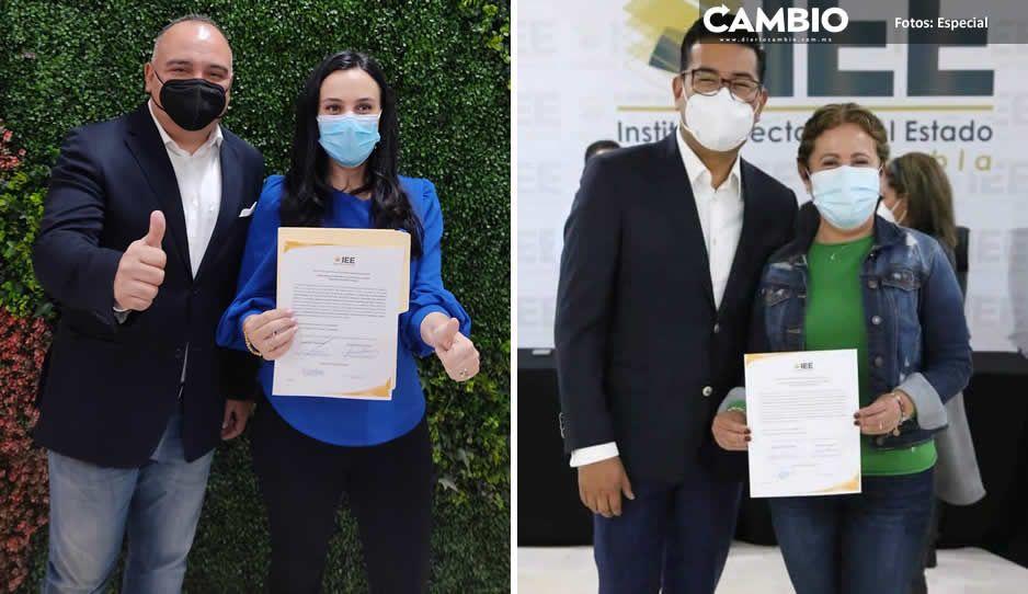 IEE entrega constancias a Mónica Rodríguez y Norma Sirley Reyes