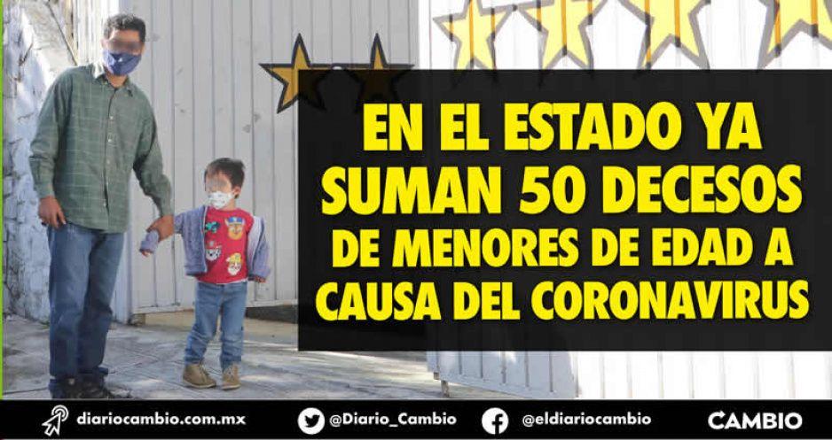 Tres niños menores de 5 años murieron de COVID en Puebla la última semana