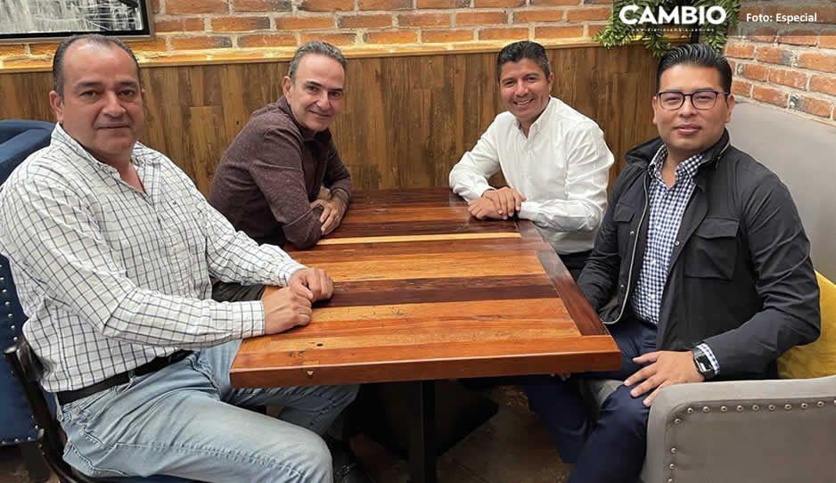 Lalo Rivera se reúne con Chidiac, Néstor Camarillo y Pablo Montiel