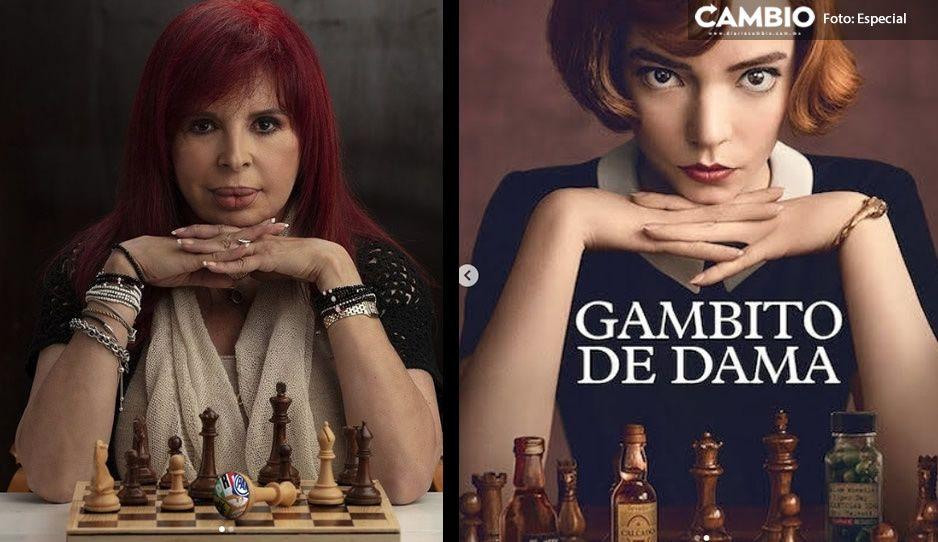 """Layda Sansores posa como la protagonista de """"Gambito de dama"""" y usuarios reaccionan"""