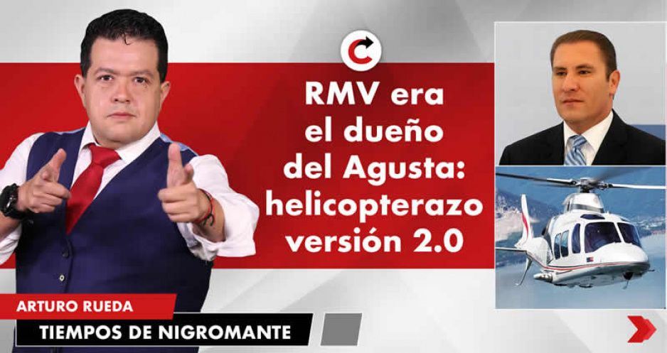 RMV era el dueño del Agusta: helicopterazo versión 2.0