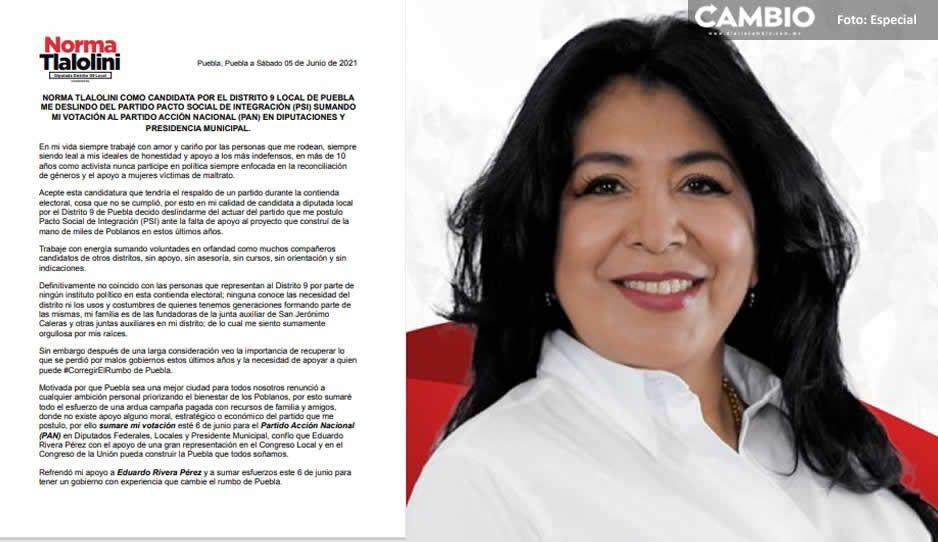 Candidata a diputada del PSI declina a favor del PRIANRD; reitera apoyo a Lalo Rivera
