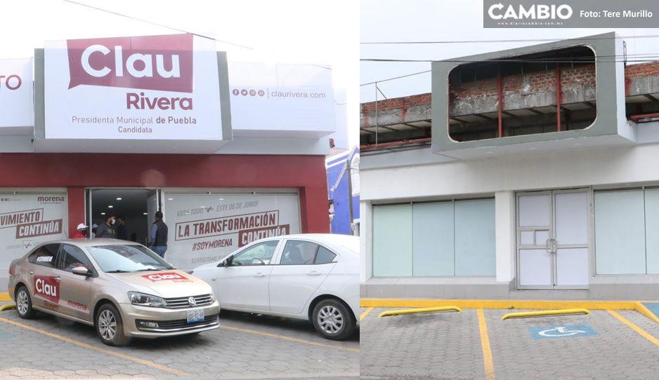 EN VIVO: ¡Claudia está acabada! Desmonta casa de campaña a una hora que termine la elección