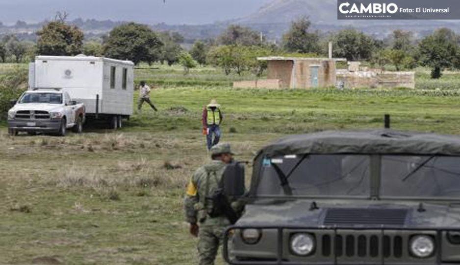 Tras colapsar casa de la familia Sánchez, Ejército toma el control de la vigilancia del socavón