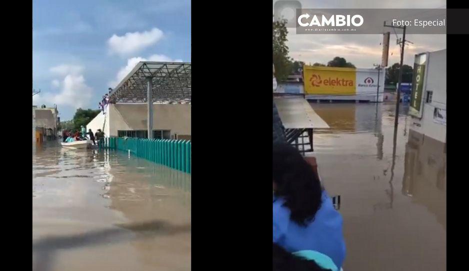 VIDEOS: Así se inundó TODO el primer piso del IMSS en Tula; hay 17 muertos