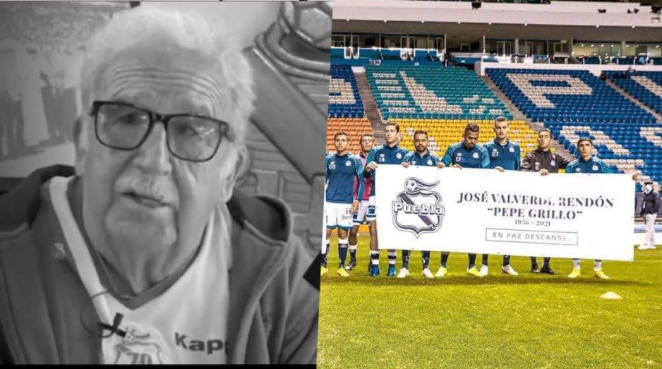 Club Puebla rinde homenaje a Pepe Grillo, fue el aficionado más fiel de La Franja