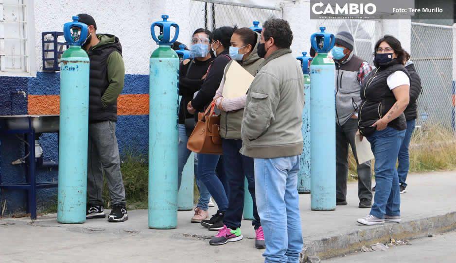 ¡No tienen vergüenza! Revendedores rentan en 30 mil pesos tanques de oxígeno de 3 mil 100 litros