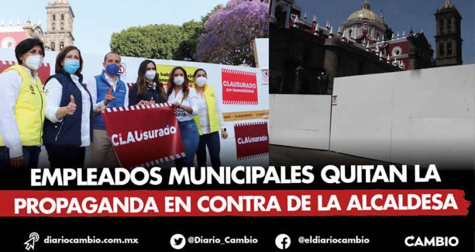 Candidatos del PRIANRD clausuran obras de Claudia y en 5 minutos quitan sus carteles (FOTOS Y VIDEOS)
