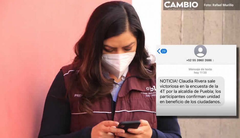Claudia pide juego limpio luego de enviar miles de SMS para promocionarse