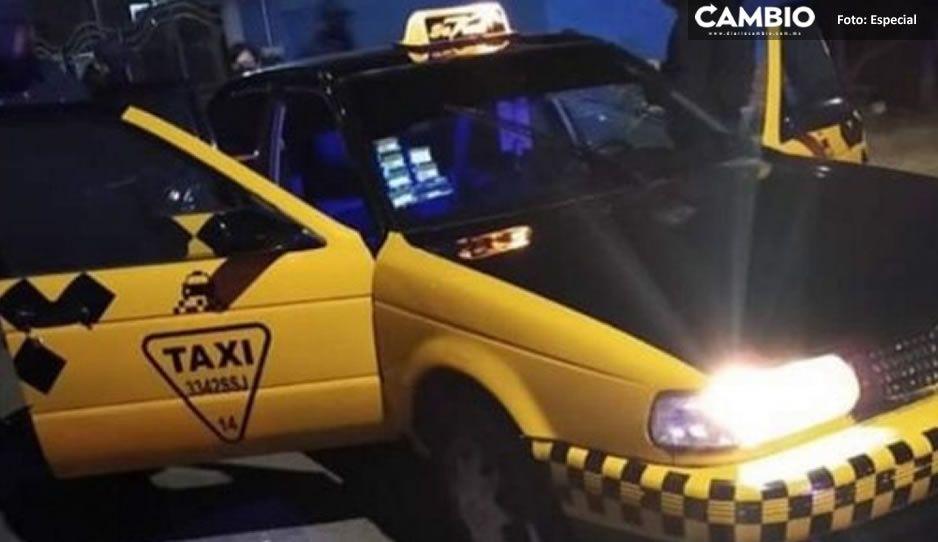 ¡Noche sangrienta! Asesinan a taxista en Ocoyucan (VIDEO)