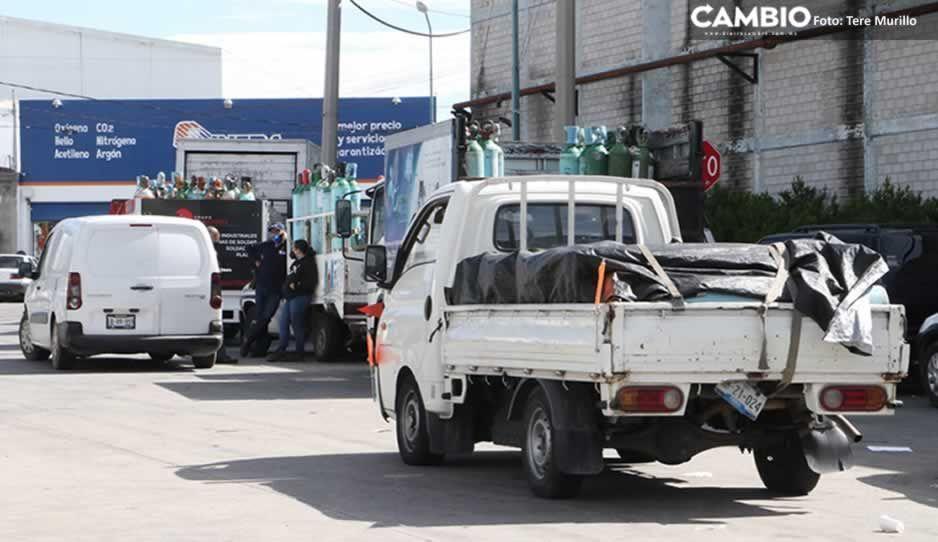 Aumenta demanda de oxígeno ante alza de casos COVID en Puebla (FOTOS y VIDEO)