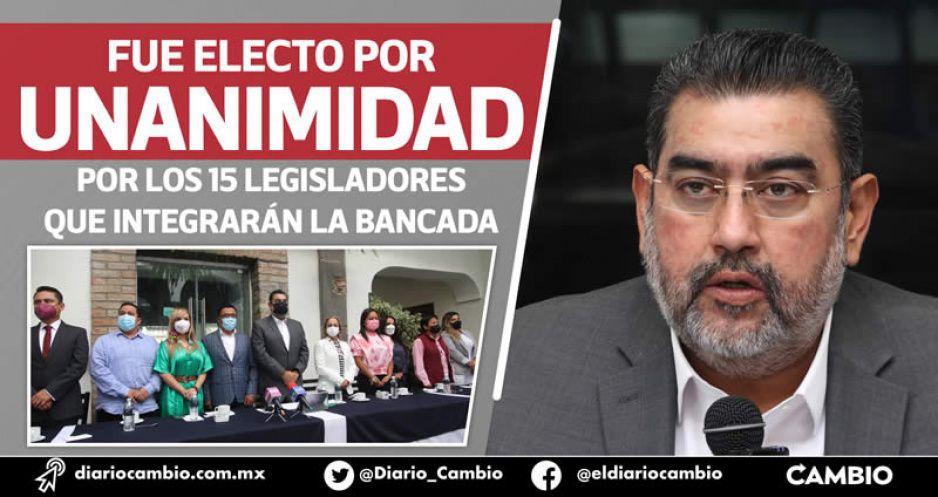 Sergio Salomón coordinará a Morena y se perfila para presidir el Congreso (FOTOS Y VIDEOS)