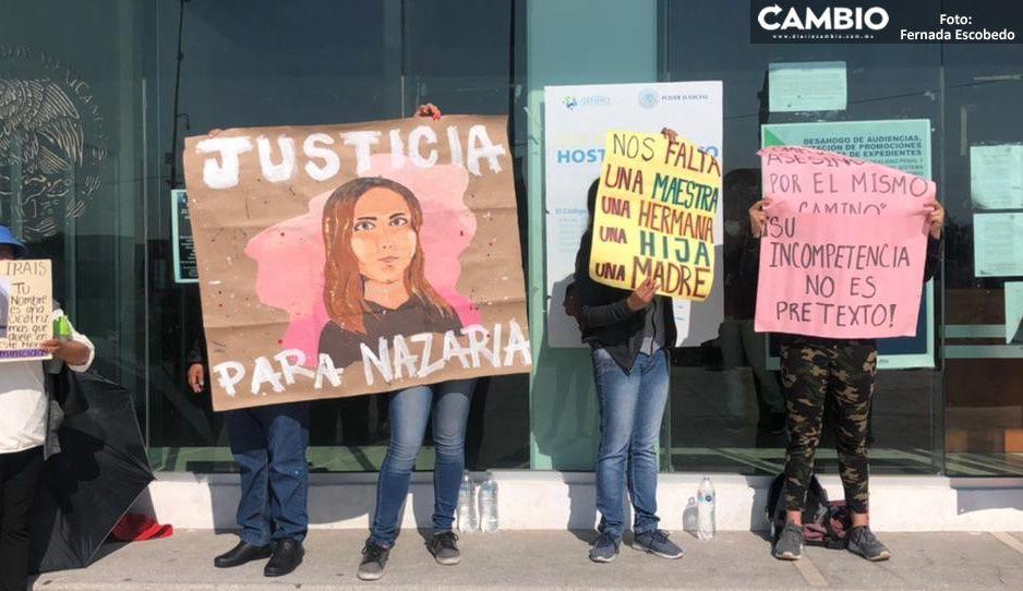 VIDEO: Familiares de Nazaria se manifiestan en Cholula, temen que sus feminicidas salgan libres