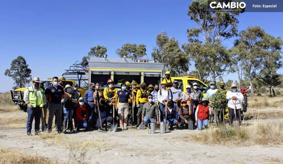 Realizan brigada vs incendios para salvaguardar el medio ambiente en Tecamachalco