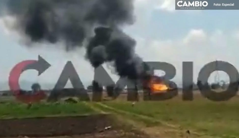 Pemex, bomberos y Protección Civil hacen quema controlada en ductos de Texmelucan