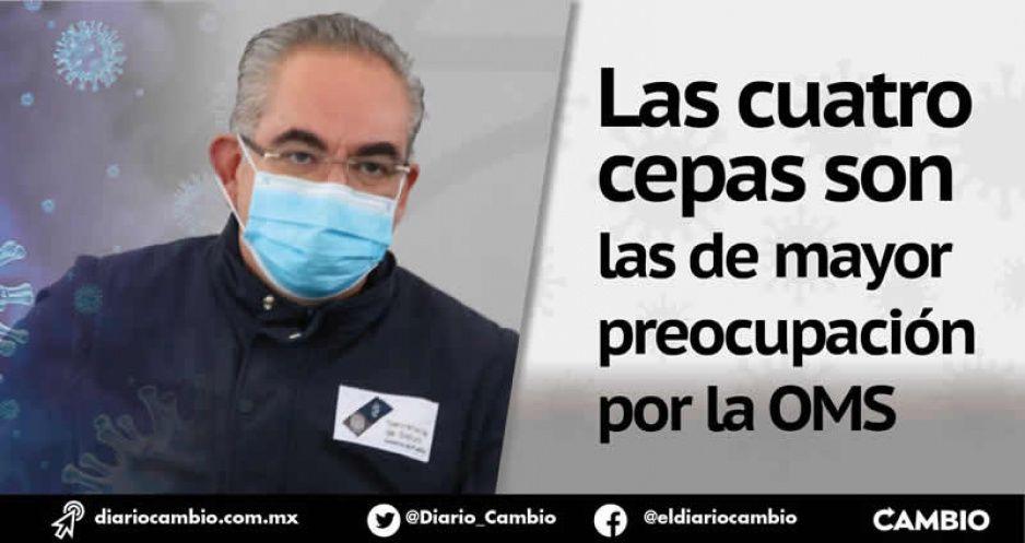 En Puebla 11 casos de las variantes Alpha, Delta, Gamma y Épsilon, aún sin muertos