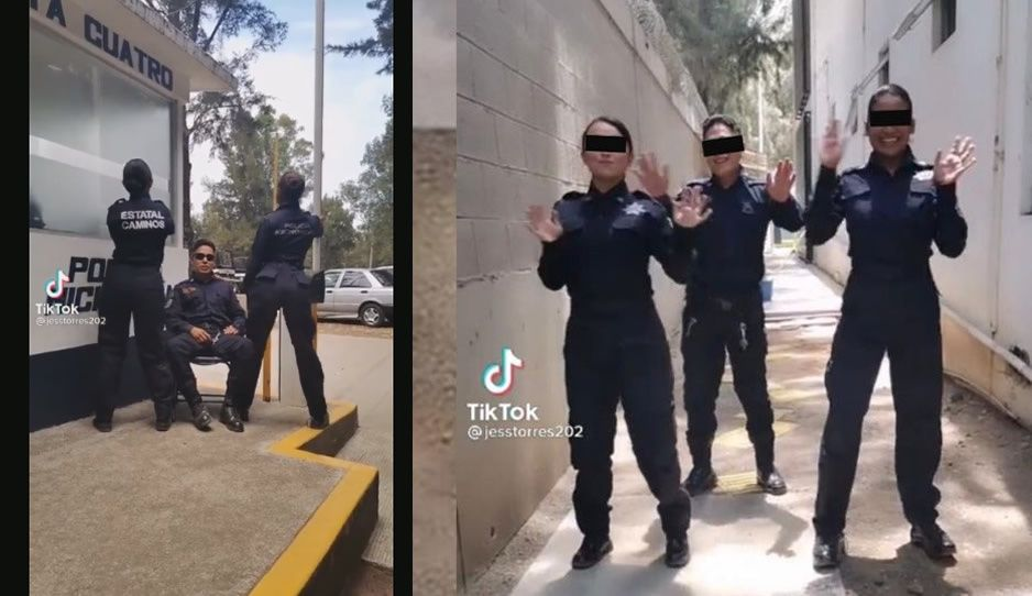 Polis Tiktokeros bailan el Rico Rico Rico en pleno horario laboral (VIDEOS)