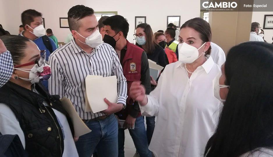 Ana Lucía Hill encabeza reuniones con habitantes de la Sierra Norte afectados por Grace