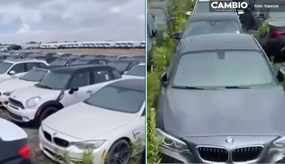 ¡Qué desperdicio! Así fueron abandonados más de 3 mil autos BMW de alto de desempeño (VIDEO)